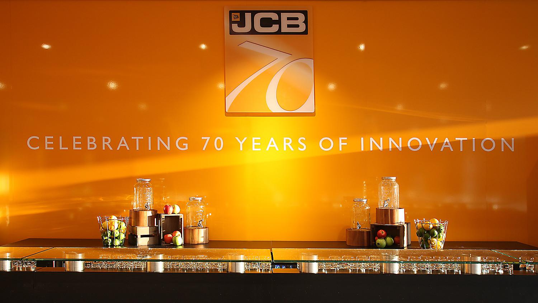 70 year logo wall